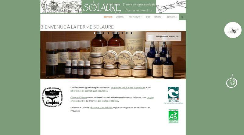 Site internet www.solaure.fr